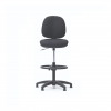 Sillas ergonómicas con espaldar y asiento tapizados aro apoyapies