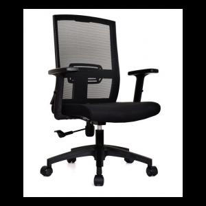 Sillas ergonómicas con espaldar  en malla y asiento tapizado