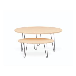 Mesas pequeñas con diferentes diseños, colores y materiales