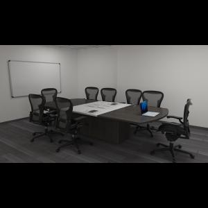 Mesas de Juntas para grandes reuniones con sillas giratorias